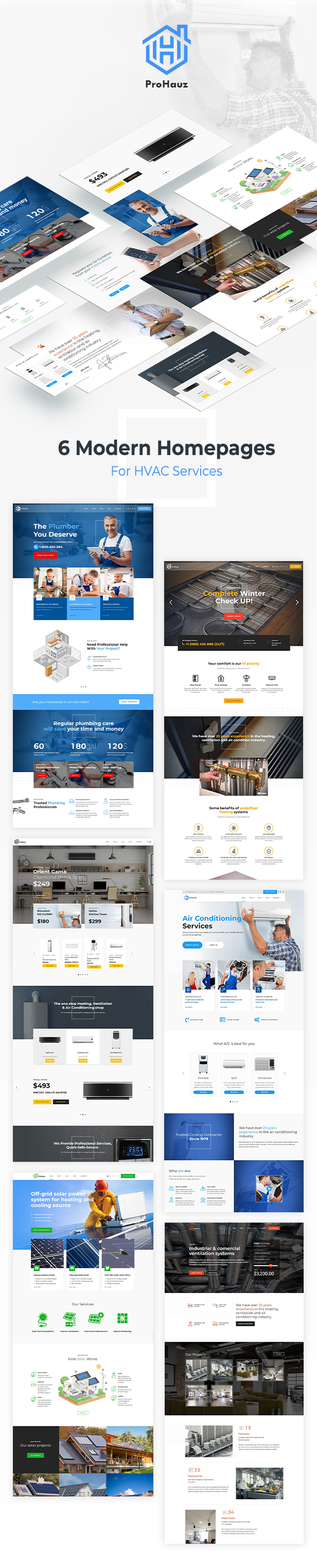 ProHauz – HVAC Services WordPress Theme - 3